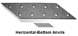 Horizontal bottom anvils